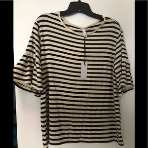 NWT Z Supply Michael Bell Sleeve Knit Top